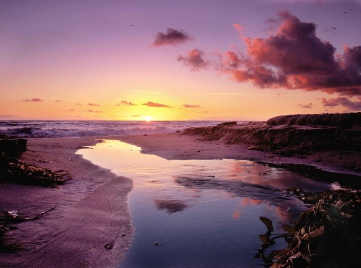 Capo Beach Watery Sunset