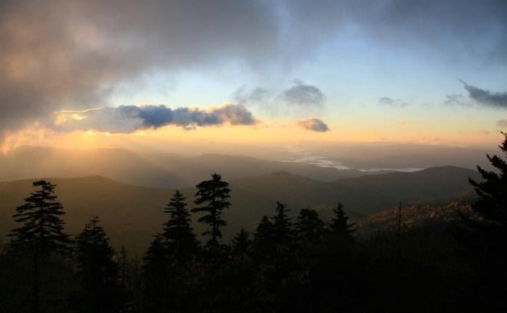 Sunrise, Great Smoky mountains, TN/NC
