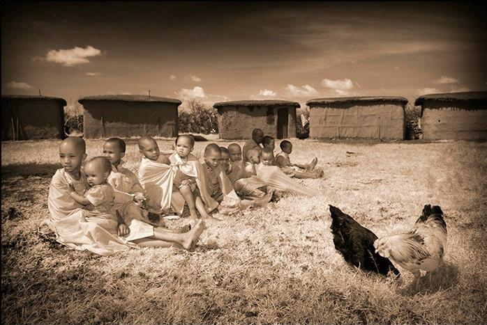 Masai Mara Kenya - Masai children