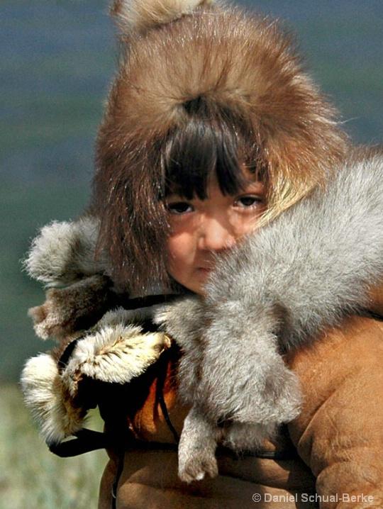 Inuit Girl In Furs