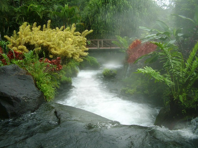 Tabacon Resort Hot Springs River