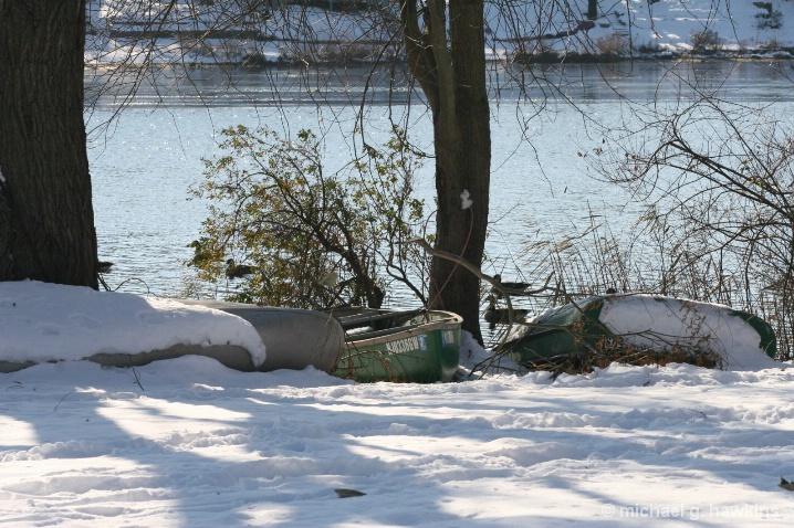 winter canoes