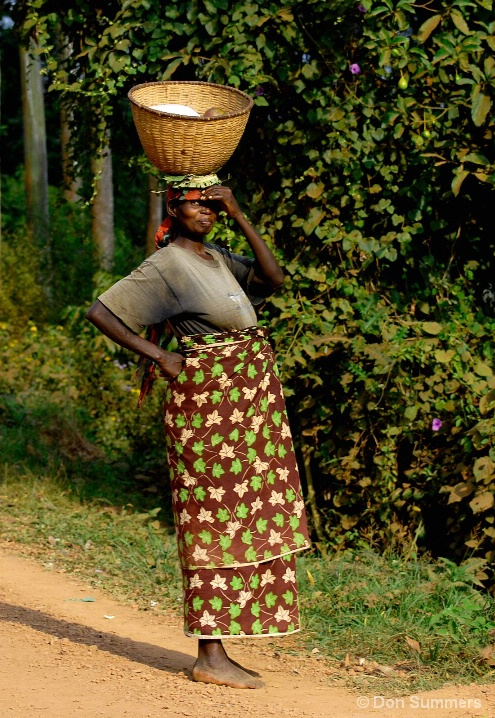 Coming From The Market, Butare, Rwanda 2007