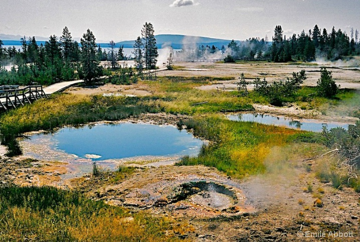 BLUE Funnel Spring at Yellowstone
