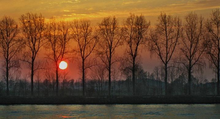 sunset on the Rhine Rv