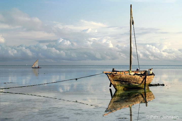 Readying His Dhow - Tanzania