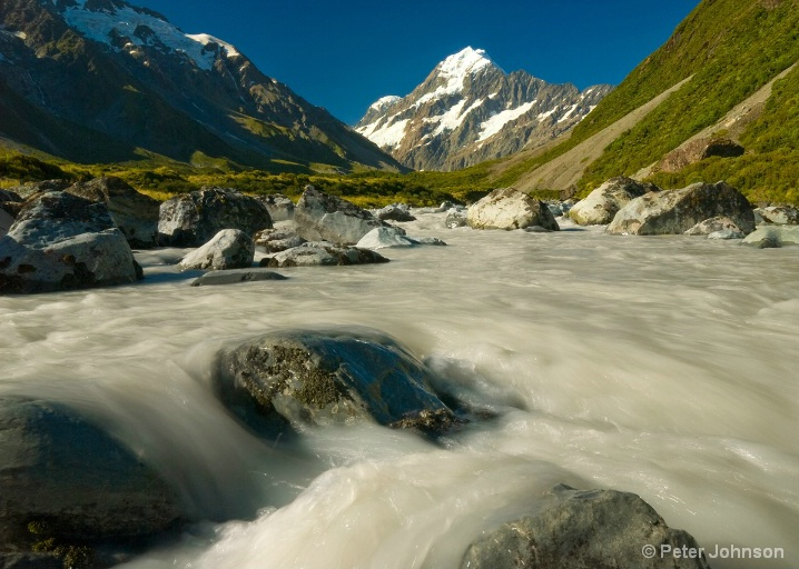 Milky Meltwater from Mt. Cook - New Zealand