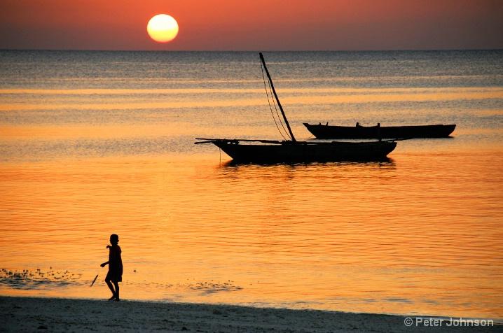 Fishing at Dusk - Tanzania