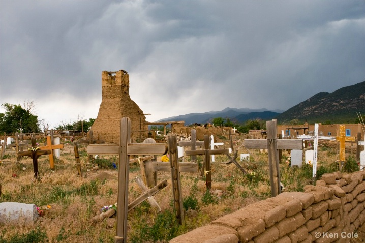 Cemetery in Storm