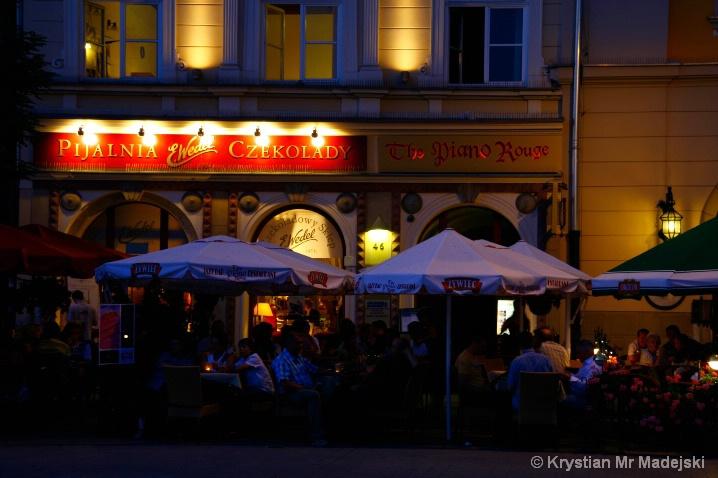 Kraków in Poland - cafe's