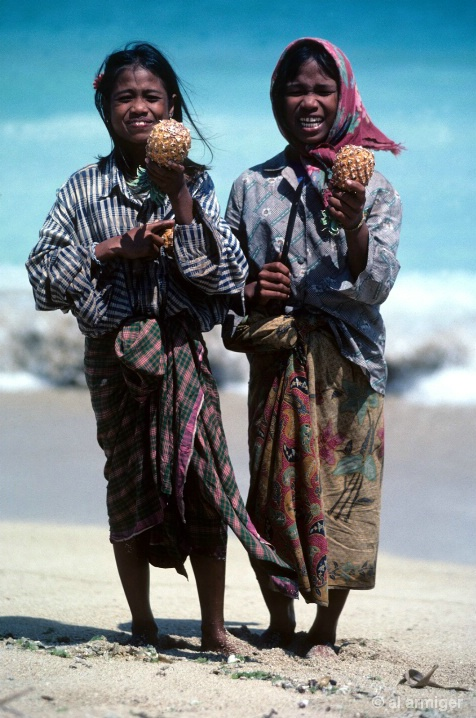 Two young girls of  Lombok-2000-10-BPCE