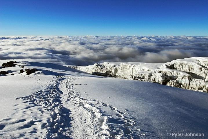 Melting Glaciers Atop Mount Kilimanjaro