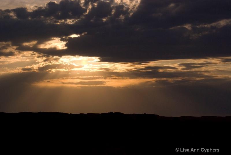 sunset on an Arizona summer storm