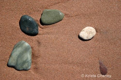 Five stones, Cedar Dunes Provincial Park, PEI