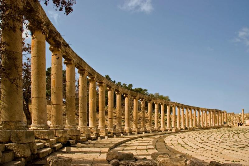 Jerash, Jordan Forum Colonnade