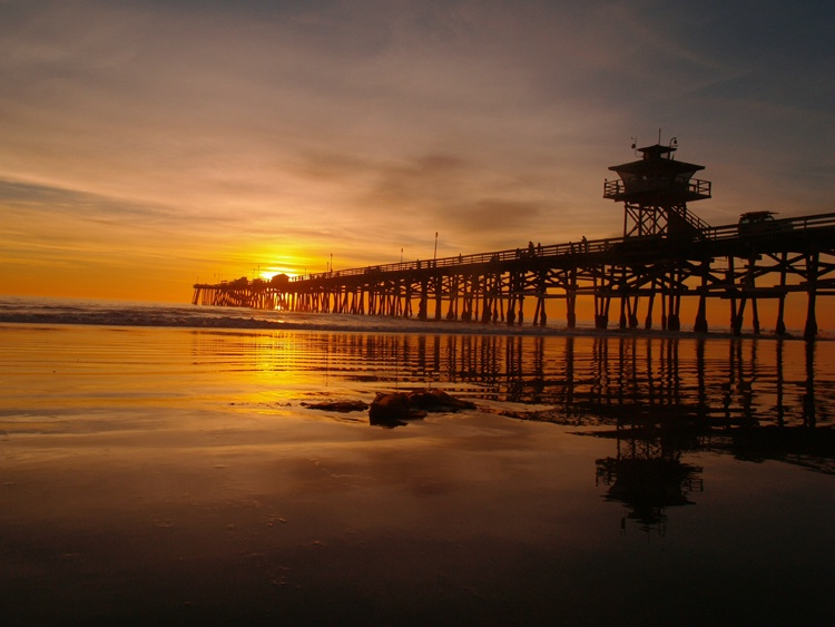 Pier sunset, San Clemente, Ca.