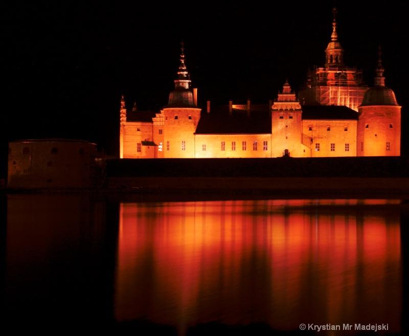 Kalmar fortress by night