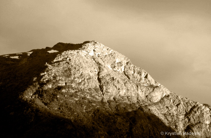 Mountain in the sunset - mountains SRF