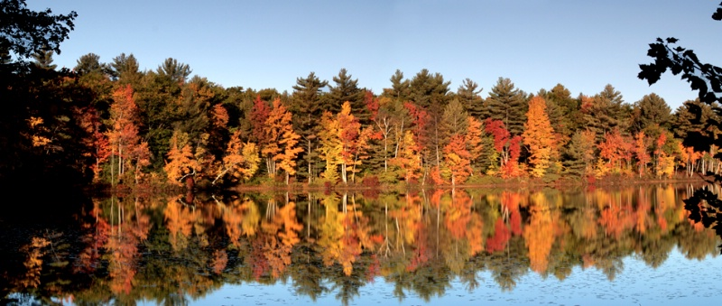 2 shot pano , Gile Pond, Sutton, New Hampshire