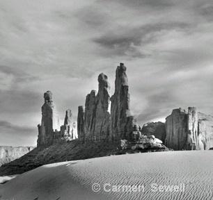 Red Rock Spires, Monument Valley,AZ