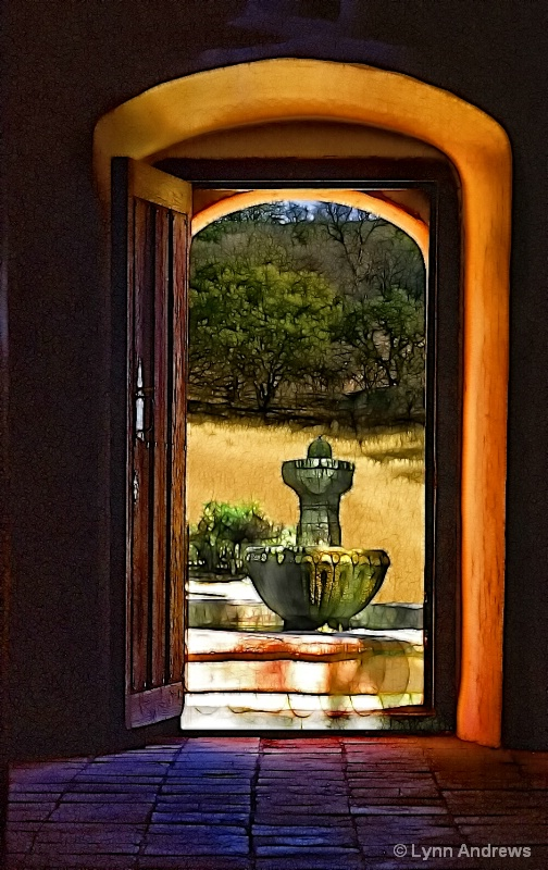Fountain Outside the Door