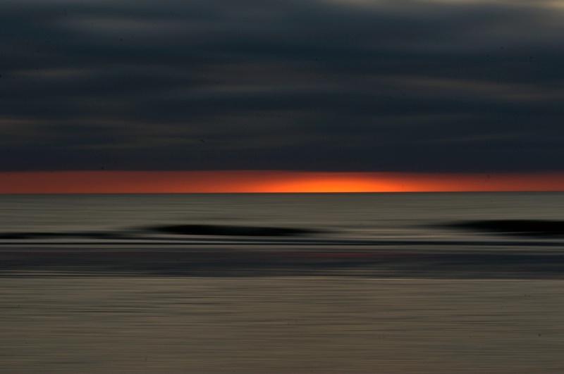 The Atlantic Ocean - Black Clouds and Sunrise