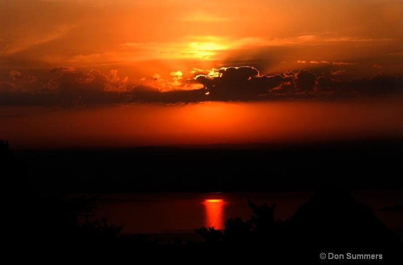 Sunset in Akagera, Rwanda 2008