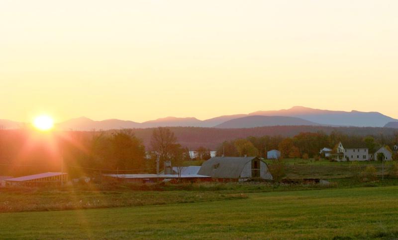 Phelps Farm at sunrise..Grand Isle VT