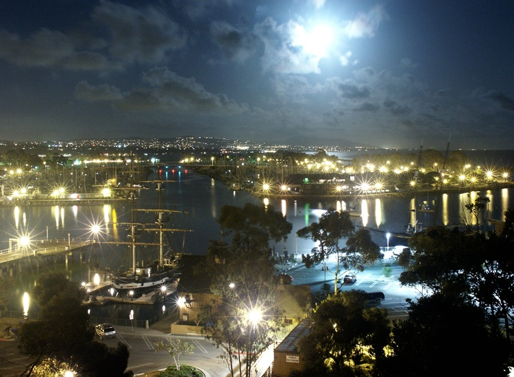 """After - DP Harbor night """"moonset"""""""
