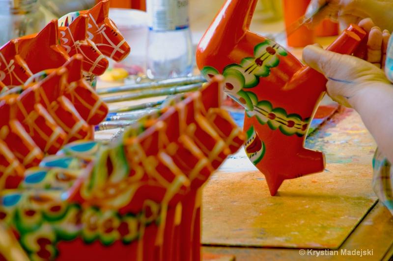 Toy horses from Dalarna