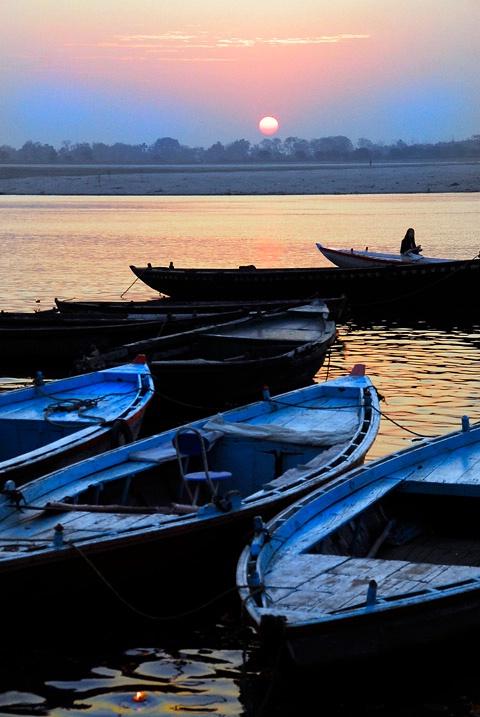 Sunrise in Ganges River