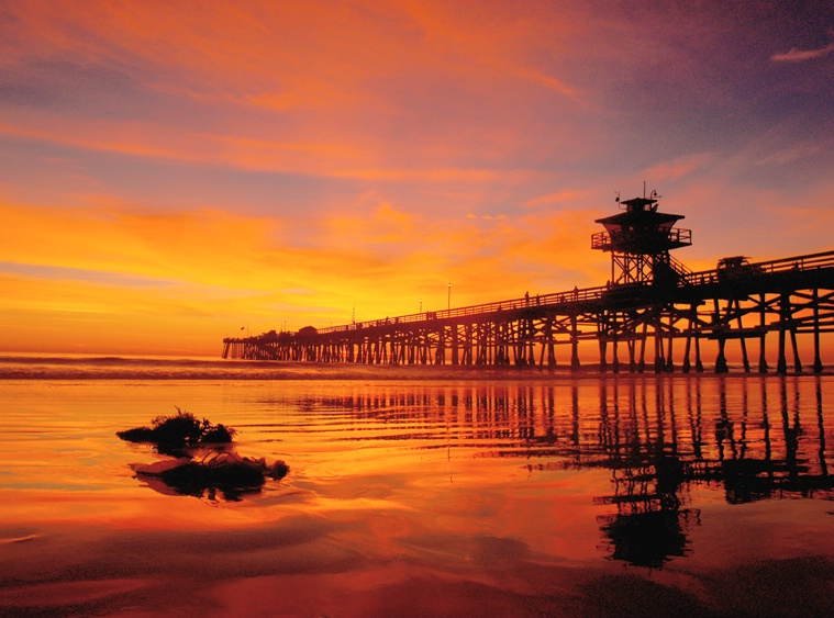 Pier Sunset same day as surfer..