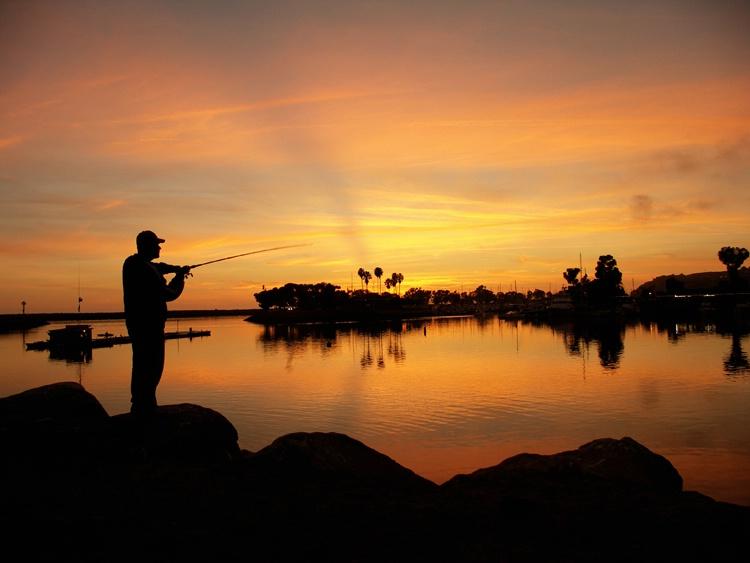 Sunset Fisherman - Dana Point, California