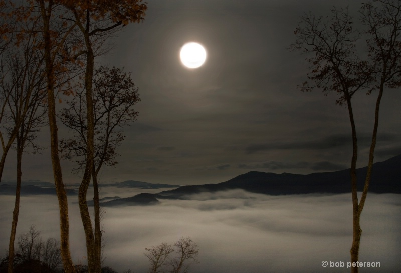 Harvest Moon over the Blue ridge
