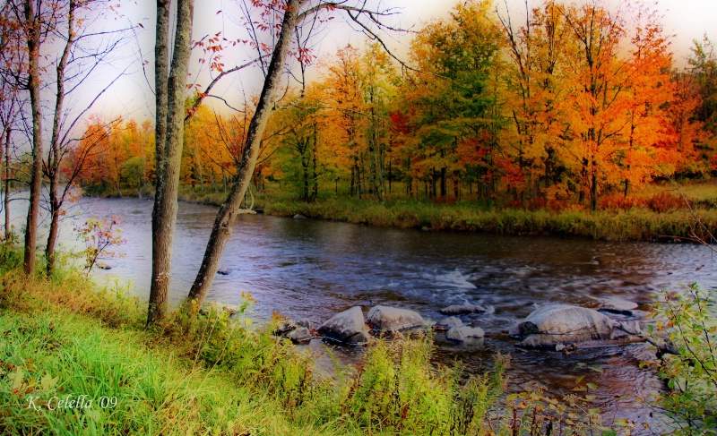 Painted Autumn River