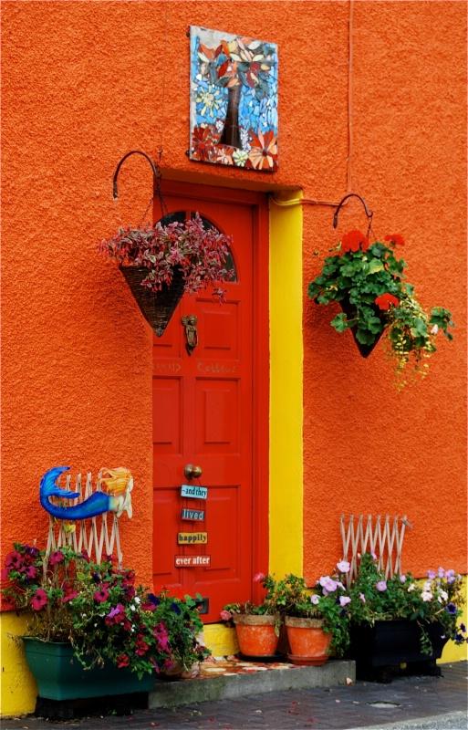 Front door in Kinsale, Ireland