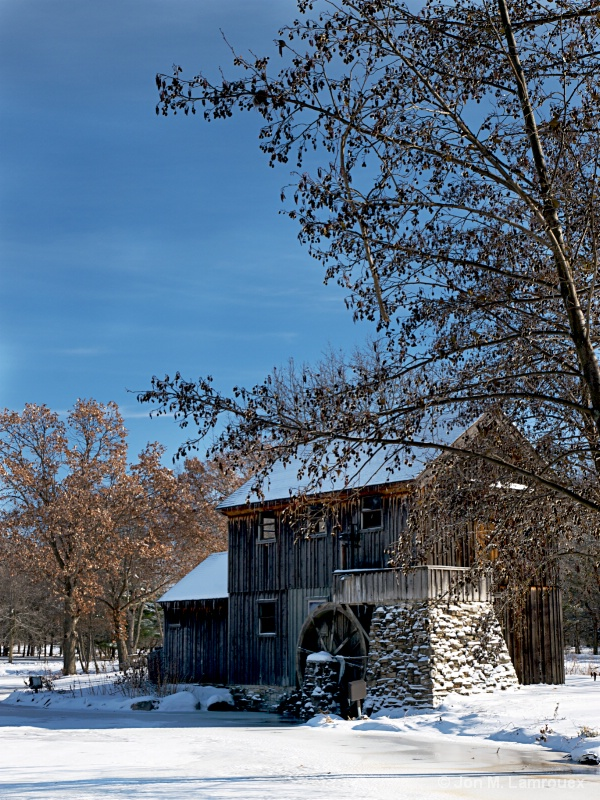 Old Mill in Winter