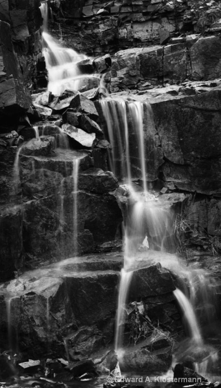 waterfall from runoff