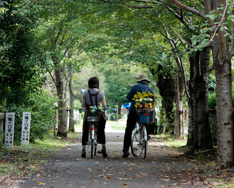 Delivering Flowers in Aoyama Cemetery