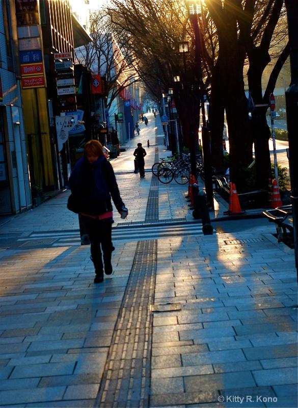 Omoto Sando on a Cold Morning
