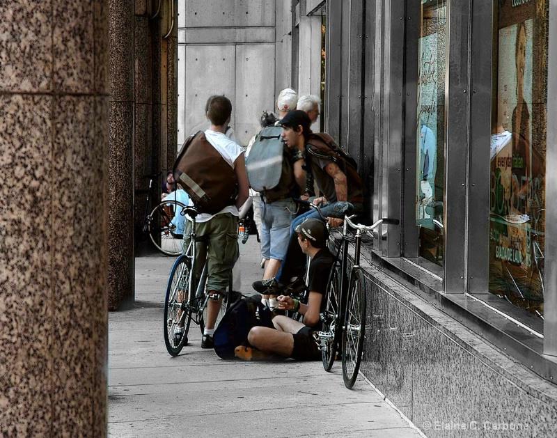 Borders Bicycle Messengers 2, Boston, MA