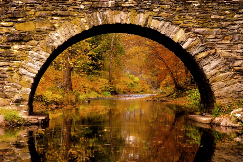 Fall View Through the Arch