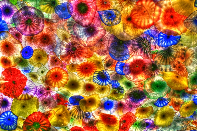 Dale Chihuly Flowers - Belagio Hotel