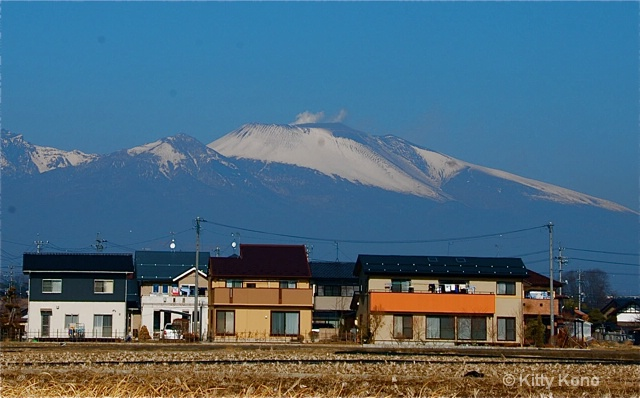 Mt. Asama that Erupted in Japan in January 2009