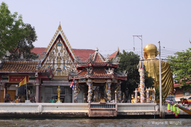 golden buddha from boat