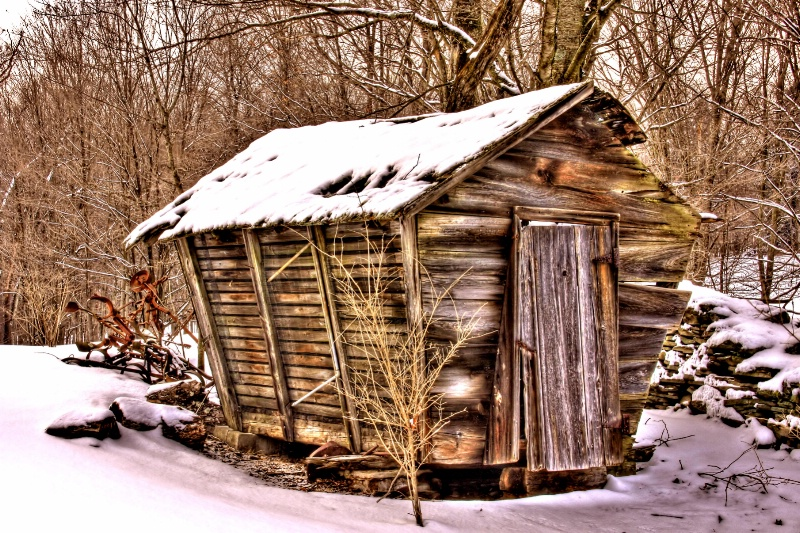 Winter Corn Crib
