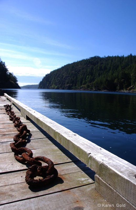 Dock and Chain at Skarry Bay