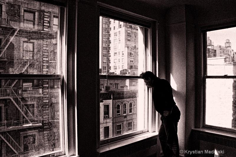Polishman in New York Manhattan