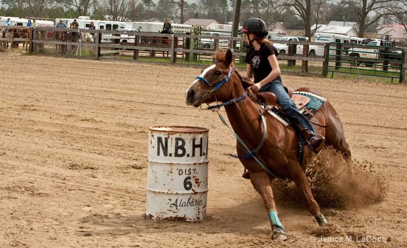 barrel racing  poarch  al marc