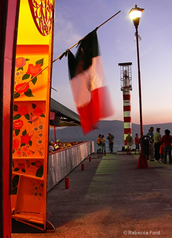 Pier with Flag